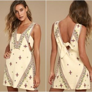 Free People | Embroidered Sleeveless Dress Sz L